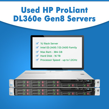 Used HP ProLiant DL360e Gen8 Servers