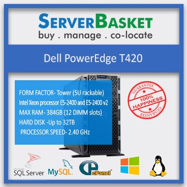 Buy Dell T420 Server At Lowest Price Online from Server Basket, Buy Dell PowerEdge T420 Server