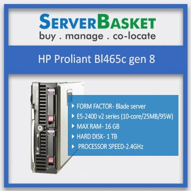 Used HP Proliant Bl465c Gen8 Server, HP Proliant Bl465c, HP-Proliant-Bl465c-gen8