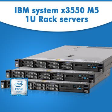 IBM system x3550 M5 1U Rack servers