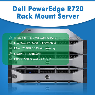 Dell PowerEdge R720 Rack Mount Server