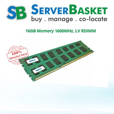 16GB Memory 1600MHz, LV RDIMM`