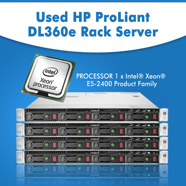Used HP ProLiant DL360e Rack Server