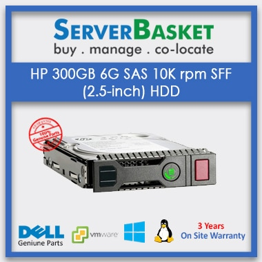 Buy HP 300GB 6G 10k SFF SAS HDD for Lowest Price Online from Server Basket in India, Purchase HP 300GB 6G 10k SFF SAS HDD online