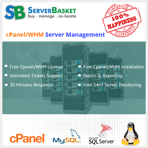 Free Cpanel WHM server mgnnt
