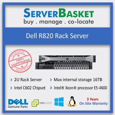 Buy Dell PowerEdge R820 Server in India at Lowest Price from Server Basket, Buy Used Dell R820 Server from Server Basket