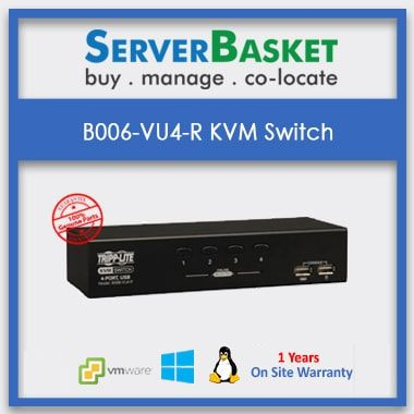 B006-VU4-R 4-Port DeskTop KVM Switch