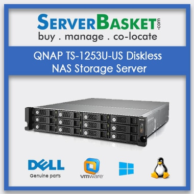 Buy QNAP TS-1253U-US Diskless NAS Storage Server In India
