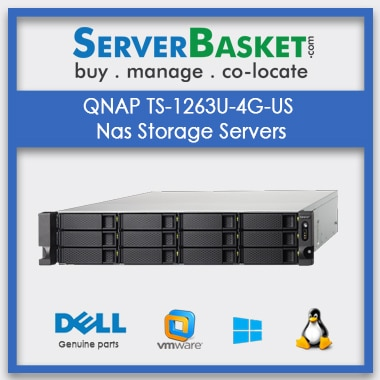 Buy QNAP TS-1263U-4G-US Nas Storage Servers In India