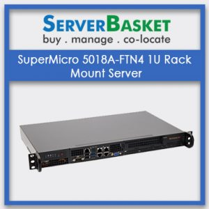 SuperMicro 5018A-FTN4 1U Rack Mount Server