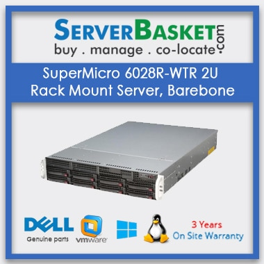 Buy SuperMicro 6028R-WTR 2U Rack Mount Server, Barebone In India