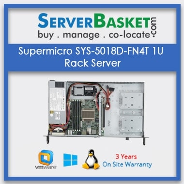 Supermicro SYS-5018D-FN4T 1U Rack Server | SuperMicro Server Online from Server Basket | Purchase SuperMicro 1U Rack Server