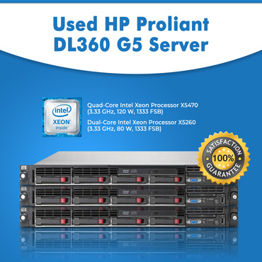 Used HP Proliant DL360 G5 Server