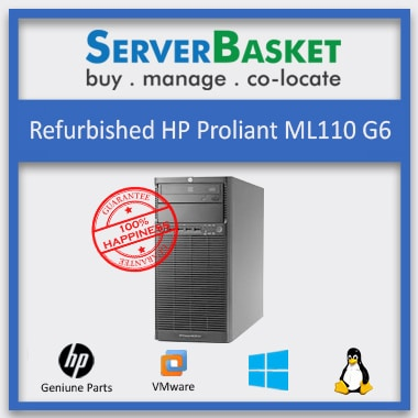 Buy Refurbished HP Proliant ML110 G6 Server in India at a Discounted Price Online from Server Basket, Buy HP ML110 Gen6 Server