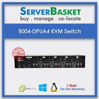 Purchase B004-DPUA4-K Display Port KVM Switch from Server Basket