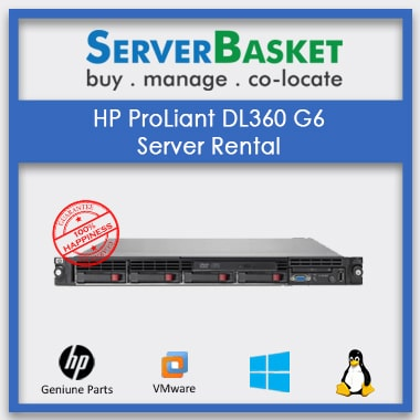 Get Lease HP ProLiant DL360 Gen6 Server from Server Basket, Get HP ProLiant DL360 Gen6 Server on Rent