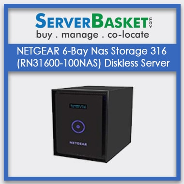 Buy NETGEAR 6-Bay Nas Storage 316 (RN31600-100NAS) Diskless Server In India