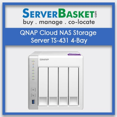 Buy QNAP Cloud NAS Storage Server TS-431 4-Bay In India