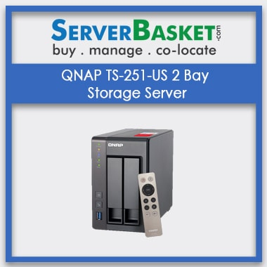 Buy QNAP TS-251-US 2 Bay Storage Server In India