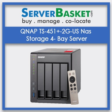 Buy QNAP TS-451+-2G-US Nas Storage 4- Bay Server In India