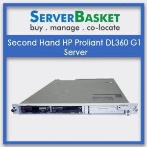 Second Hand HP Proliant DL360 G1 Server