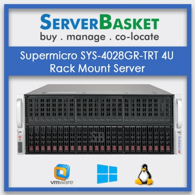 Supermicro SYS-4028GR-TRT 4U Rack Mount Server | SuperMicro 4U Server Online | SuperMicro Rack-Mountable Server For Best Price in India | Supermicro SYS-4028GR-TRT Server At Lowest Price