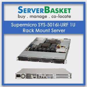Supermicro SYS-5016I-URF 1U RackMount Server