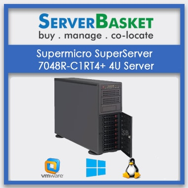 Supermicro SuperServer 7048R-C1RT4+ 4U RackMount / Tower Server | SuperMicro 4U Server Online | Buy SuperMicro 4U Rack Server Online in India