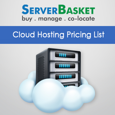 Cloud Hosting service Pricing List with customizable options