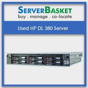 Used HP DL380 Server Online At Server Basket