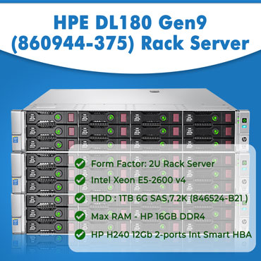 Buy HPE DL180 Gen9 (860944-375) Rack Server In India , Server Rental India