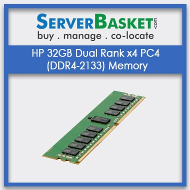 Buy HP 32GB DDR4 RAM, Purchase HP 32GB DDR4 Memory for HP Servers, HP Server Memory