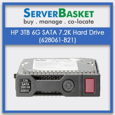 Buy HP 3TB 6G SATA 7.2K Hard Drive (628061-B21) from Server Basket at Cheap Deal Price in India
