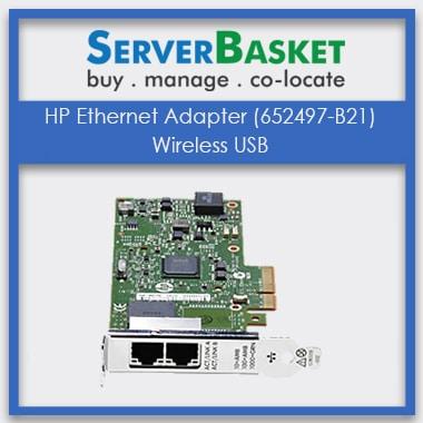 HP Ethernet Adapter, HP Ethernet Adapter (652497-B21) Wireless USB