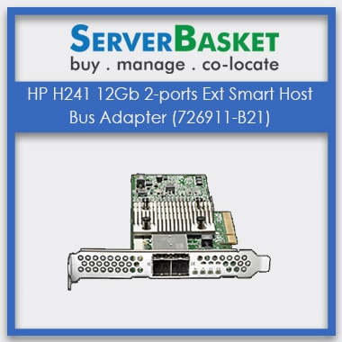 HP H241 12Gb 2-ports Ext Smart Host Bus Adapter, HP H241 12Gb 2-ports (726911-B21) Adapter