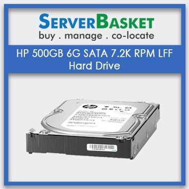 Buy HP 500GB 6G SATA 7.2K RPM LFF Hard Drive from Server Basket at Lowest Price in India, Buy HP 500GB 6G SATA 7.2k Online