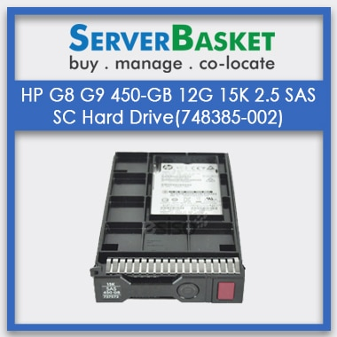 Buy HP G8 G9 450GB 12G 15K 2.5 SAS SC Hard Drive(748385-002) from Server Basket Online (India), Buy HP 450GB 15k SAS HDD Online in India, Buy HP 450GB(759210-B21, 759547-001, 748385-002) SAS HDD Online From Server Basket