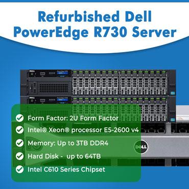 Refurbished Dell PowerEdge R730, Dell PowerEdge R730, Refurbished Dell PowerEdge R730 in India, Refurbished Dell PowerEdge R730 at lowest price in India
