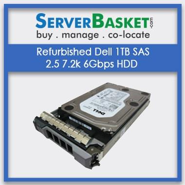 Refurbished Dell 1TB SAS 2.5 7.2k 6Gbps HDD, Refurb Dell 1TB SAS HDD Hard Drive, Purchase Dell 1TB SAS 2.5 7.2k 6Gbps HDD Drive Online