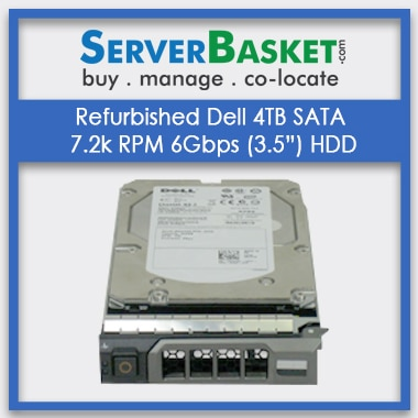 "Buy Refurbished Dell 4TB SATA 7.2k 3.5"" 6Gbps HDD, Purchase Refurbished Dell 4TB SATA Hard Drive, Buy Dell SATA Hard Drive"