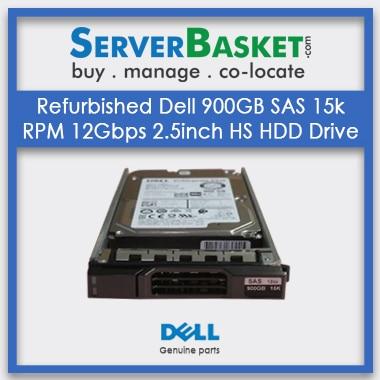 Buy Refurbished Dell 900GB SAS 15k RPM 12Gbps 2.5inch HS HDD Drive, Buy Refurb Dell 900GB SAS HDD, Purchase Dell 900GB SAS HDD