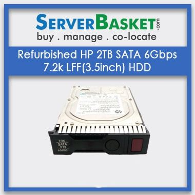 Buy Refurbished HP 2TB SATA 6Gbps 7.2k LFF(3.5inch) HDD At Deal Price in India, Purchase HP 2TB SATA 6Gbps HDD, Buy HP 2TB SATA HDD