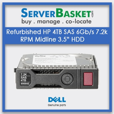 "Buy Refurbished HP 4TB SAS 6Gbs 7.2k RPM Midline 3.5"" HDD, Purchase HP 4TB SAS HDD Hard Drive Online, Buy HP 4TB HDD Hard Drive Online, HP 4TB SAS MDL, HP 4TB 6G SAS 7.2k Hard Drive, 4tb SAS HDD Price"