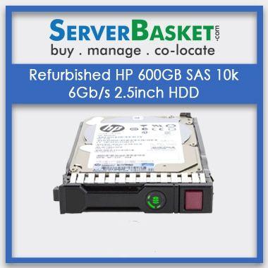 Refurbished HP 600Gb SAS 10k 6Gbps 2.5 inch