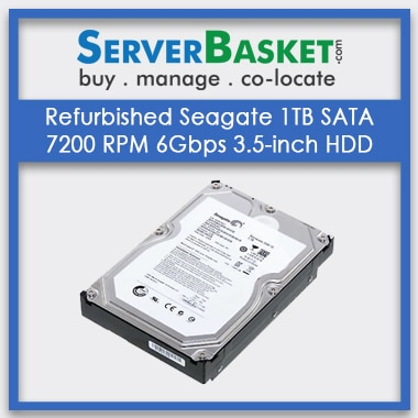 Buy Refurbished Seagate 1TB SATA 7200 RPM 6Gbps 3.5 inch HDD, Purchase Seagate 1TB SATA HDD, Buy Seagate 1TB SATA HDD Hard Drive Online
