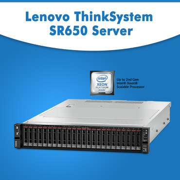 Lenovo ThinkSystem SR650 server | 2U rack server | 2 Intel Xeon CPUs | Lenovo Servers
