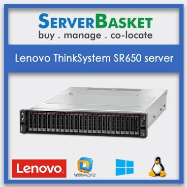 Lenovo ThinkSystem SR650 server | 2U rack server | 2 Intel Xeon CPUs | Lenovo Servers