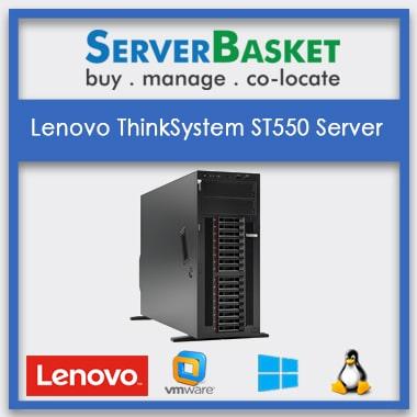 Lenovo ThinkSystem ST550 Server| Buy Lenovo Servers | 4U rack mountable tower Server | Purchase Lenovo ThinkSystem | Lenovo Servers at Lowest Price