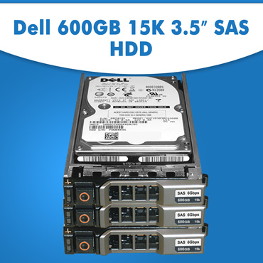 "Dell 600GB 15K 3.5"" HDD, Dell 600GB Hard Disk Drive, Dell 600GB Hard Drive for Server"