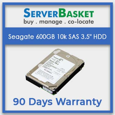 "Buy Seagate 600GB 10k SAS 3.5"" HDD Online from Server Basket 